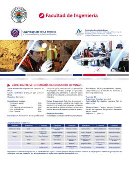 Facultad de Ingeniería - Universidad de La Serena