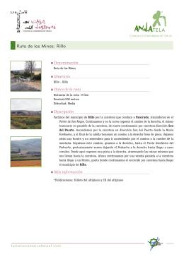 Ruta de las Minas: Rillo - Comarca Comunidad de Teruel