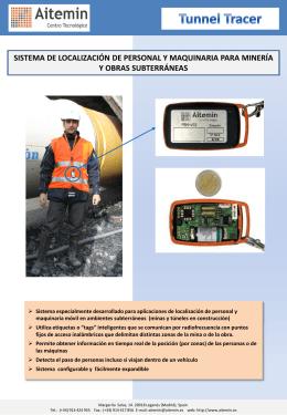 Sistema de localización de personal y máquinas móviles en minas y