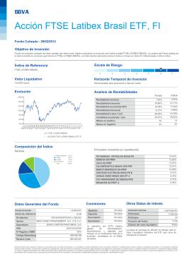 Ficha ETF  - Bolsa de Madrid
