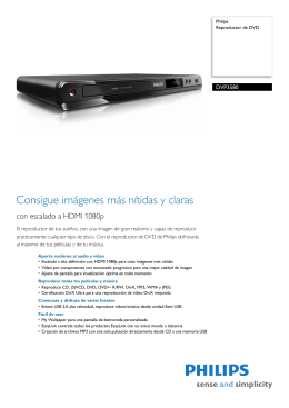DVP3580/12 Philips Reproductor de DVD