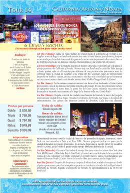 Descripción - Grand Union Tours