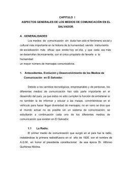 aspectos generales de los medios de comunicación en el salvador.