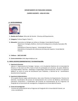 Cuerpo Docente - Universidad de Panamá