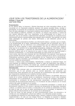 Manual sobre los Trastornos de la Conducta Alimentaria