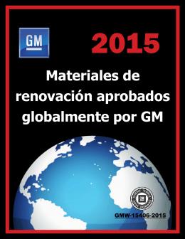 Materiales de renovación aprobados globalmente por GM