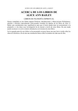 Acerca de los Libros de Alice Ann Bailey pdf