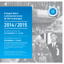 conozca el informe oficial de actividades del cilad