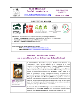 Cuadernillo docente - Club de Escritura Telémaco