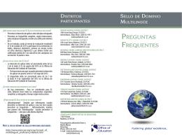preguntaS FrequenteS - Stanislaus County Office of Education