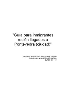 """""""Guía para inmigrantes recién llegados a Pontevedra"""
