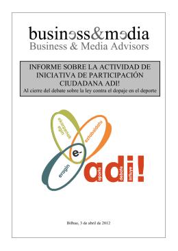 Informe resumen a los Parlamentarios PDF - ADI!