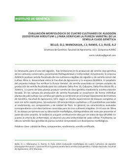 genetica - Universidad Central de Venezuela