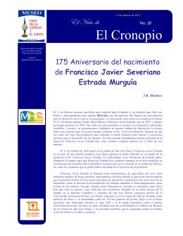 175 Aniversario del nacimiento de Francisco Javier Severiano