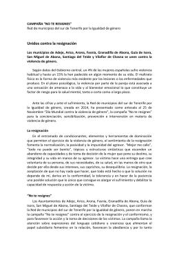 No te resignes - Ayuntamiento de Vilaflor de Chasna