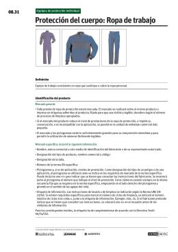 Protección del cuerpo: Ropa de trabajo