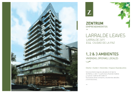 LARRALDE LEAVES - ZENTRUM Emprendimientos