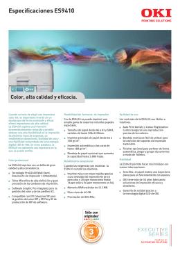 Especificaciones ES9410 - Soluciones Digitales de Toledo