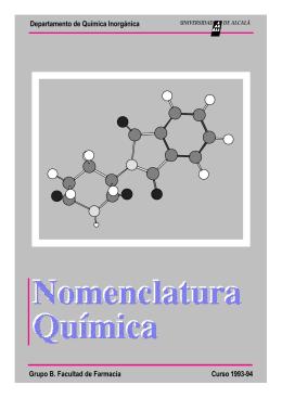 Nomenclatura Química - Departament de Química Inorgànica