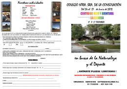 Folleto de información para alumnos de 1º y 2º de Primaria