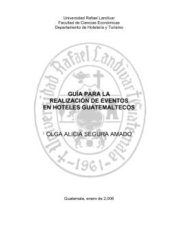 guía para la realización de eventos en hoteles guatemaltecos olga