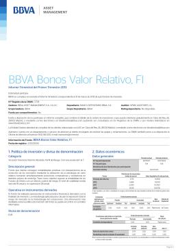 BBVA Bonos Valor Relativo, FI