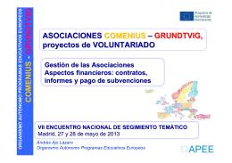 Seguimiento 2013, Vida y gestión del proyecto, Andrés Ajo