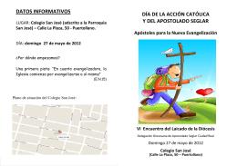 DATOS INFORMATIVOS - Diócesis de Ciudad Real