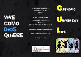 trípico informativo - Seminario de Murcia