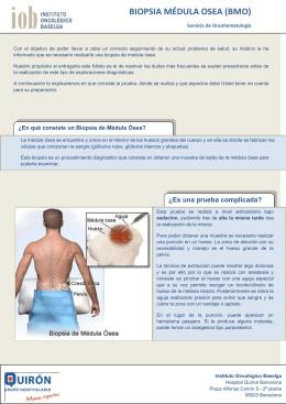BIOPSIA MÉDULA OSEA (BMO)
