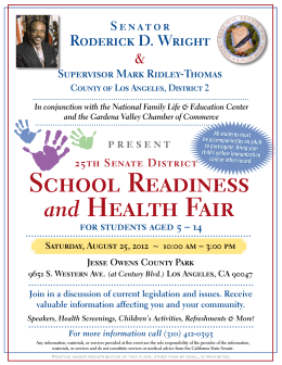School Readiness and Health Fair - Compton Unified School District
