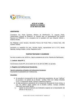 Acta N°4/2008 - Sociedad Civil - Ministerio de Desarrollo Social