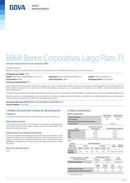 BBVA Bonos Corporativos Largo Plazo, FI