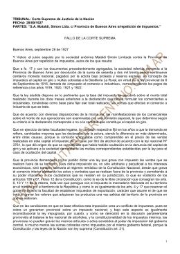 SA Mataldi, Simon Ltda. c/ Provincia de Buenos