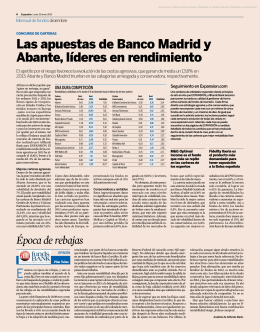 Las apuestas de Banco Madrid y Abante, líderes en rendimiento