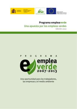 Programa empleaverde Una apuesta por los empleos verdes