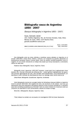 Bibliografía vasca de Argentina 1850