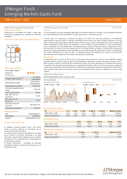 JPMorgan Funds - Emerging Markets Equity Fund