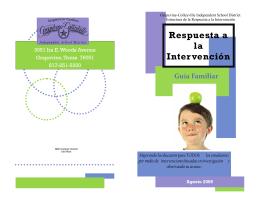 RtI Brochure Update Spanish - Grapevine
