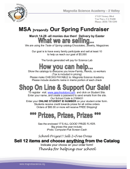 MSA presents Our Spring Fundraiser