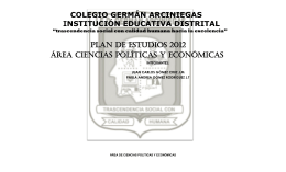 Ciencias Políticas - colegiogermanarciniegasied.edu.co