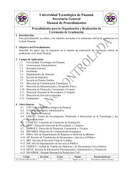 Procedimiento para la Organización y Realización de Ceremonia de
