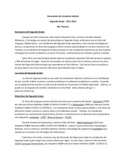 Documento de revelacion abierta Segundo Grado – 2011