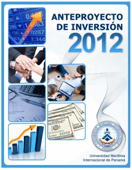 Anteproyecto de Inversión 2012 UMIP