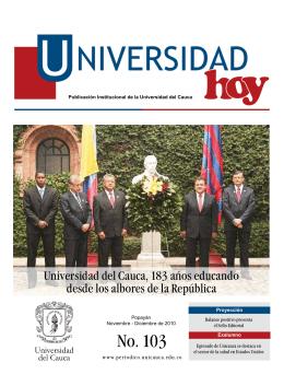 Decargar edición Nº 103 de Universidad Hoy (PDF