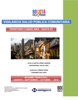 Informe Trimestral Santafe-Candelaria Agosto