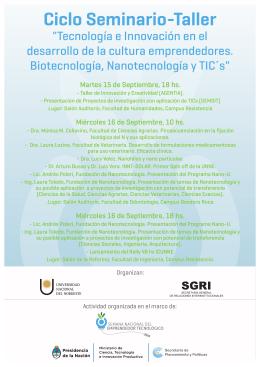 Ciclo Seminario-Taller - Facultad de Ciencias Exactas y Naturales y