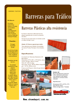 Barreras para Tráfico