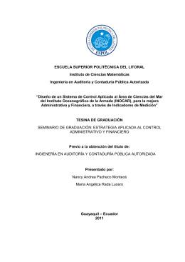 I ESCUELA SUPERIOR POLITÉCNICA DEL LITORAL Instituto