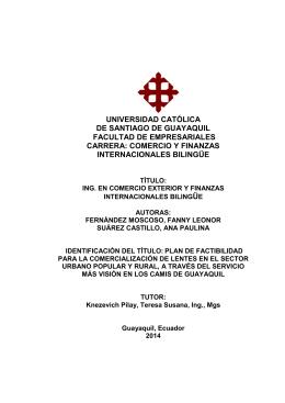 comercio y finanzas internacionales bilingüe - UCSG